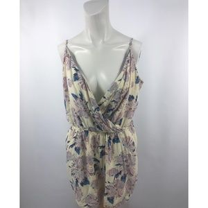 1. State Floral Sexy Plunge Faux Wrap Romper